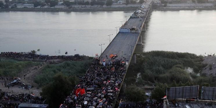 راه های مسدود پایتخت عراق به دلیل اعتراضات خیابانی، بازگشایی شد