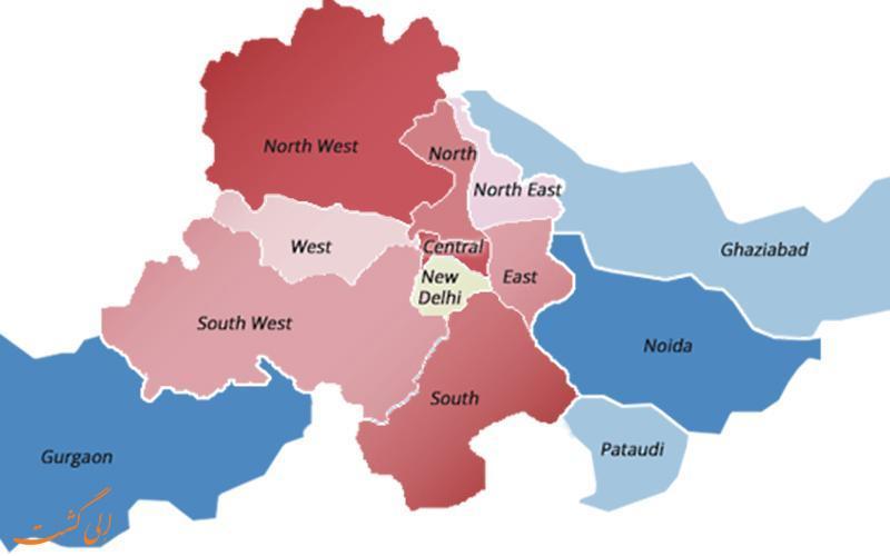 آشنایی با نقشه کامل شهر دهلی