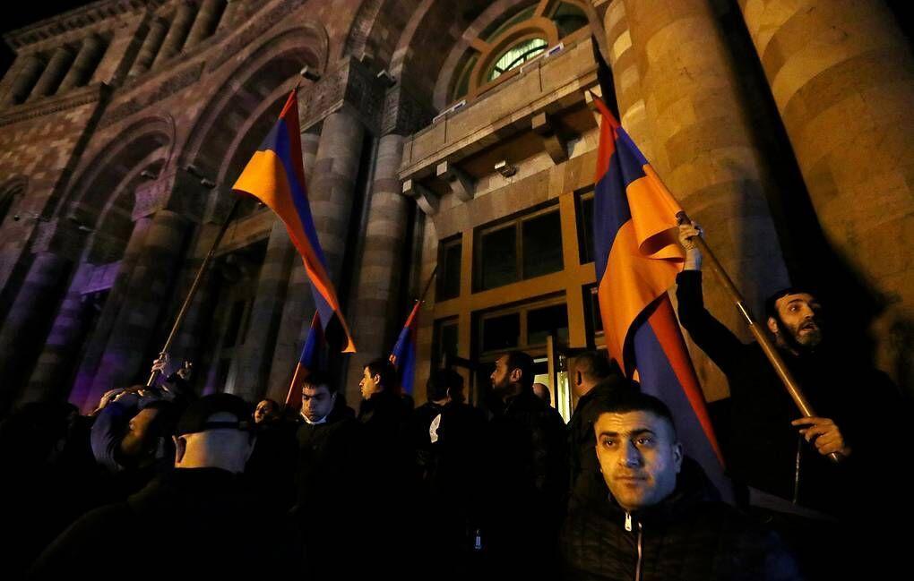 اعتراض ارمنی ها به تصمیم سرانجام جنگ در قره باغ