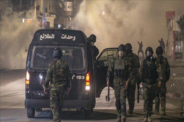 درگیری میان نیروهای امنیتی تونس و تظاهرات کنندگان