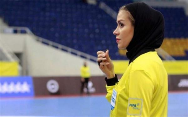 قضاوت دو ایرانی در جام جهانی فوتسال؛ دختر ایرانی بازی مردان را سوت می زند
