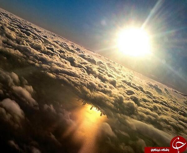 دریاچه میشیگان در هاله ای از ابر